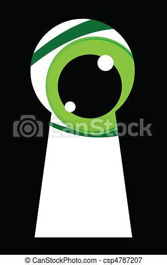 green eyes looking - csp4787207