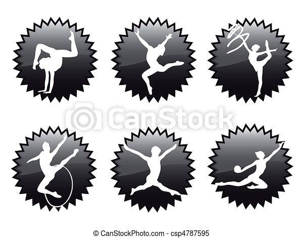 Rhythmic gymnastics - csp4787595