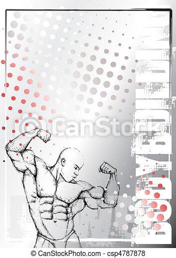 bodybuilding poster background 2 - csp4787878