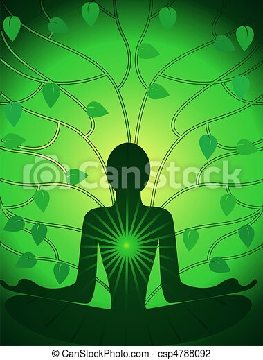 Meditation of man - csp4788092