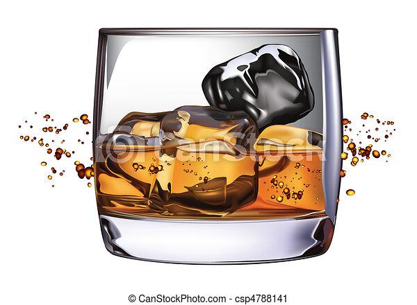 Whiskey Glass - csp4788141
