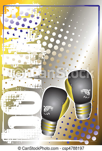 box silver poster background 2 - csp4788197