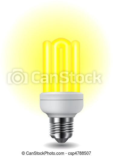 Shiny energy saving light bulb - csp4788507