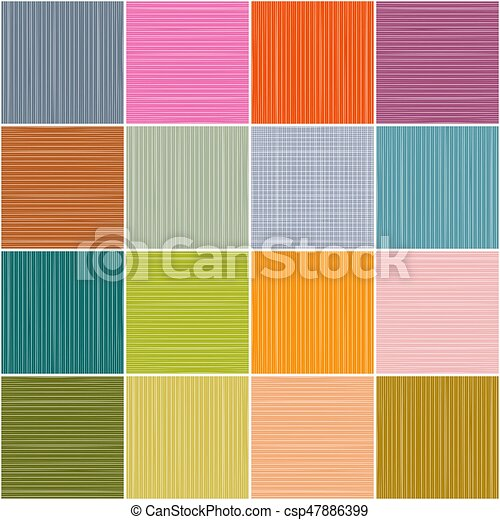 Colorful Squares Background. Vector Rectangles Seamless Pattern - csp47886399