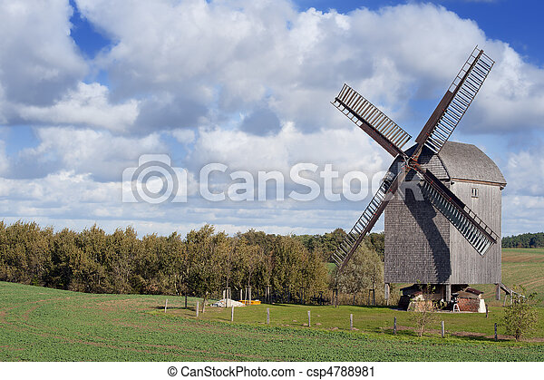 Old Windmill In Germany - csp4788981