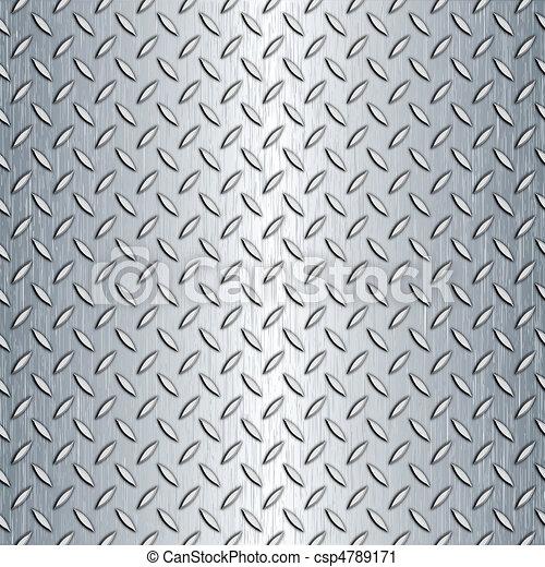 Seamless Diamond Plate Texture - csp4789171
