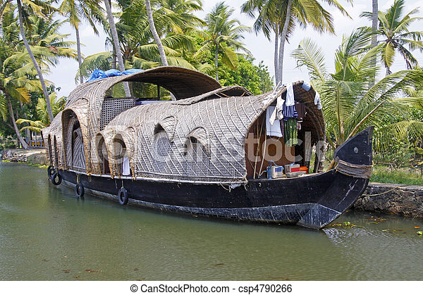 Converted Rice Barge - csp4790266