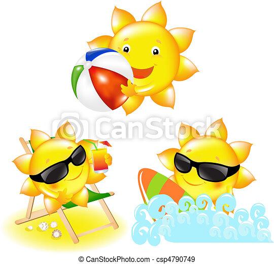 Cartoon Sun - csp4790749