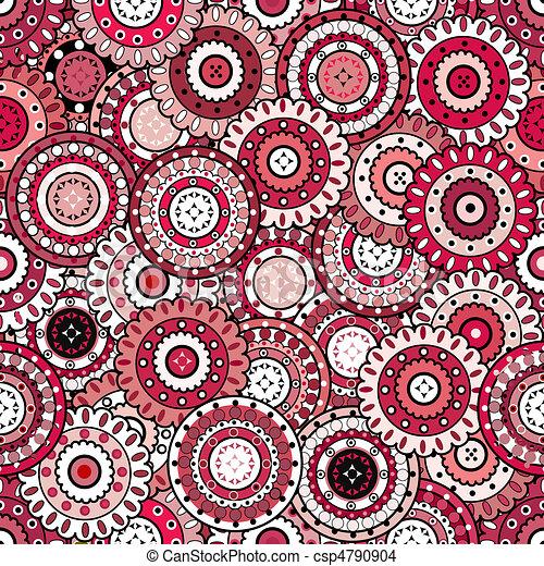 zeichnung von rosa muster orientalische seamless verzierungen csp4790904 suchen sie. Black Bedroom Furniture Sets. Home Design Ideas