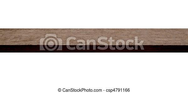 A Mahogany Plank - csp4791166