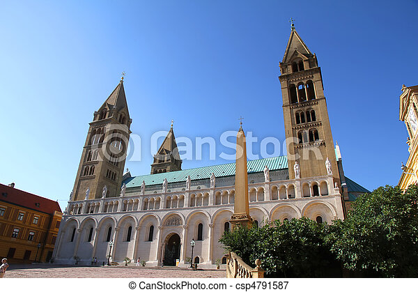 Cathedral in Pecs - csp4791587