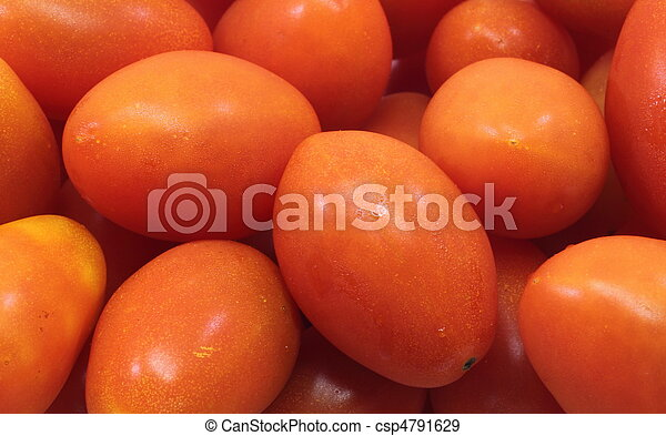 Small Cherry Roma Tomatoes Background - csp4791629