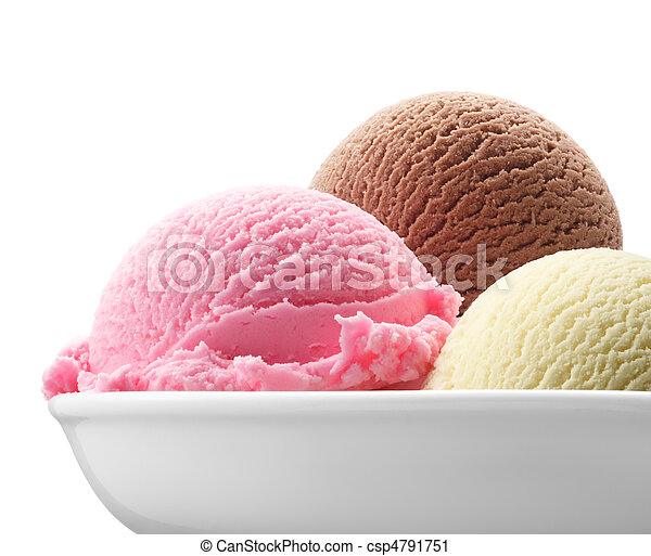 neapolitan ice cream - csp4791751