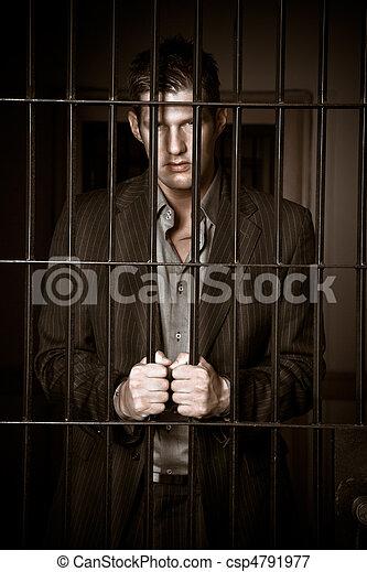 Businessman in jail - csp4791977