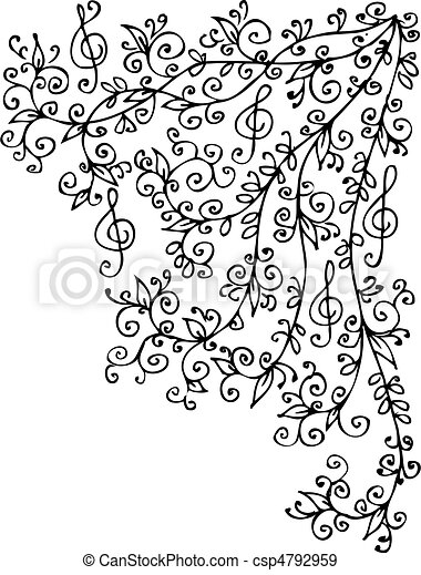 Musical vignette CCXLVI - csp4792959