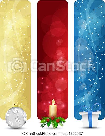 set of winter christmas vertical ba - csp4792987