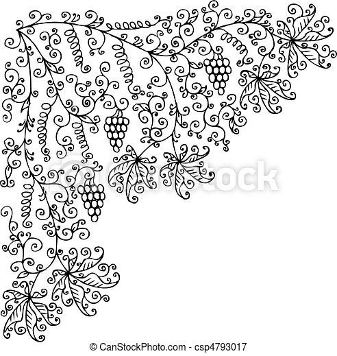 Fruit Vine vignette CCLII - csp4793017