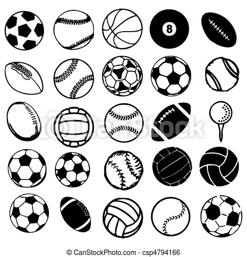 Set Ball sports icons symbols comic - csp4794166