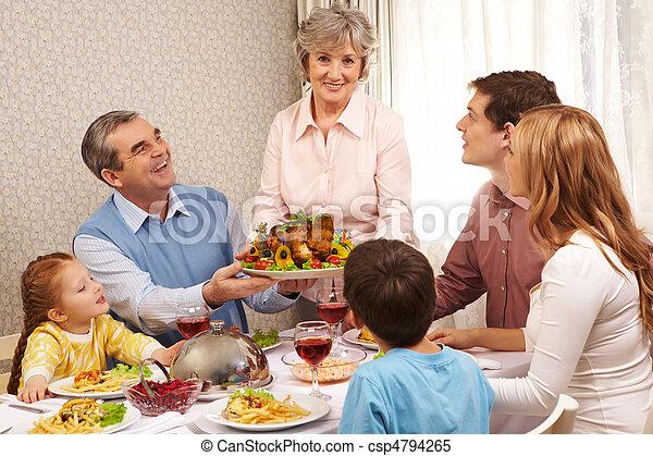Thanksgiving dinner - csp4794265