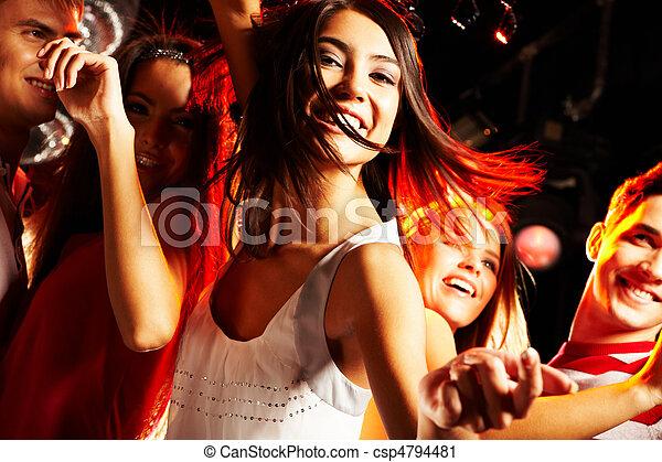 Attractive dancer - csp4794481