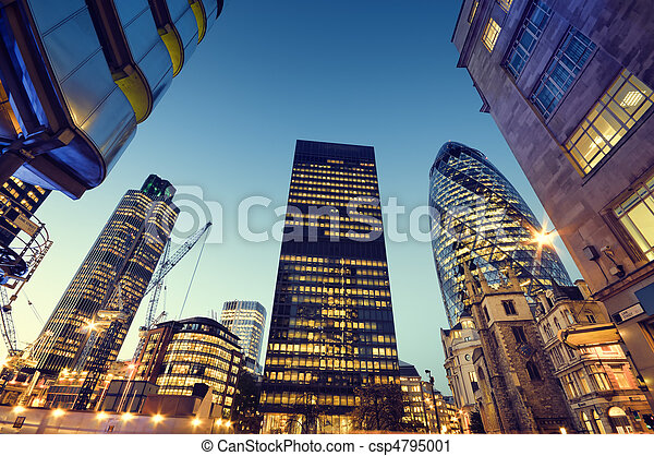 stad, skyskrapor, london. - csp4795001