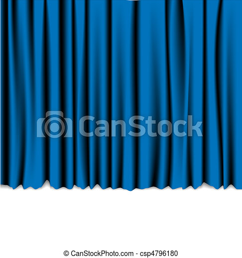 Curtain from the theatre - csp4796180