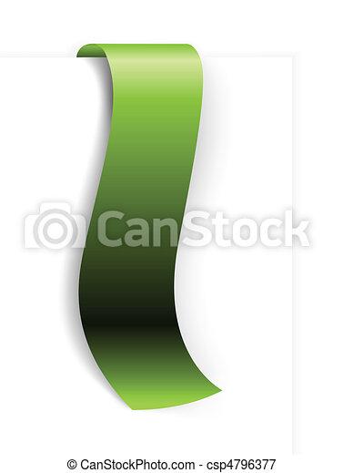 Fresh green ribbon - csp4796377