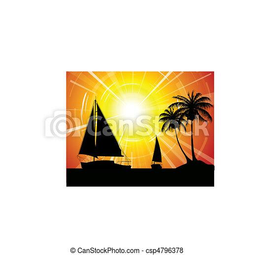 Yachts on the ocean - csp4796378