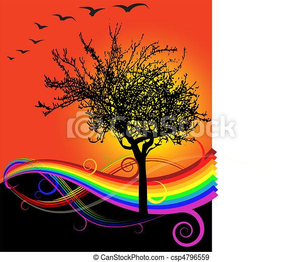 Autumn Sunset - csp4796559