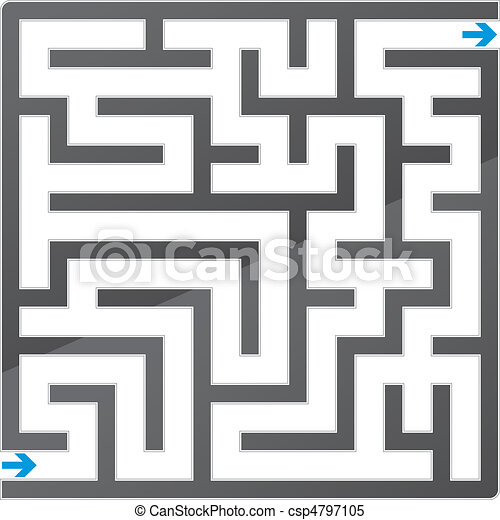 Small gray maze. Vector illustration - csp4797105