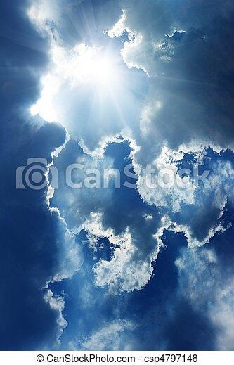 Sun in sky - csp4797148
