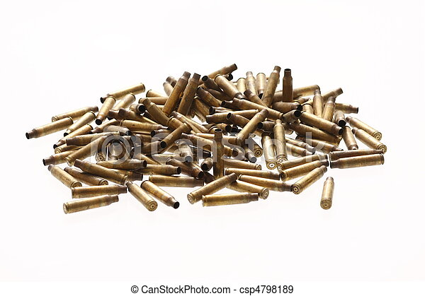 Spent bullet casings - csp4798189