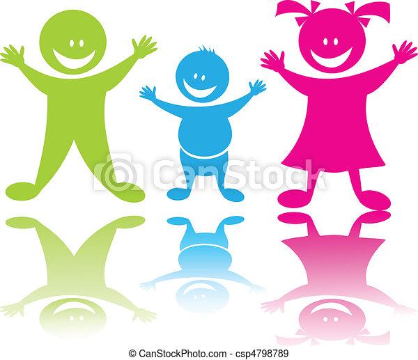 Cheerful happy children - csp4798789