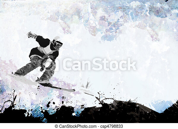 Extreme Winter Sports Layout - csp4798833