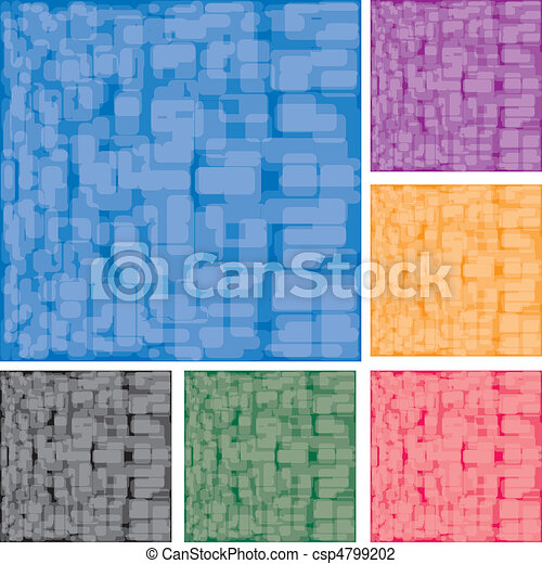 Set of abstract colorful spotted backgrounds, part 15, vector illustration - csp4799202