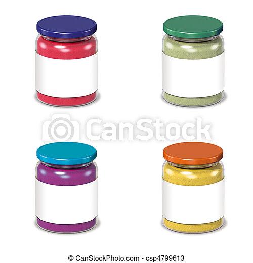 Glas leer clipart  Zeichnungen von glas, leer, dosen, etikett - 3d, render, glas ...