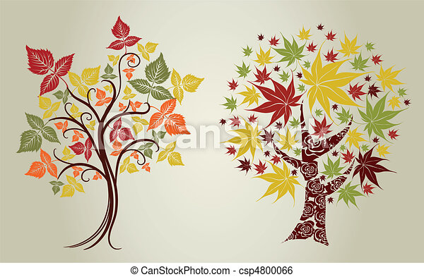 trees from leafs. Thanksgiving  - csp4800066
