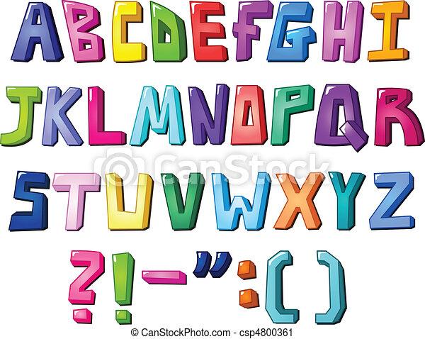 Multicolor letters - csp4800361