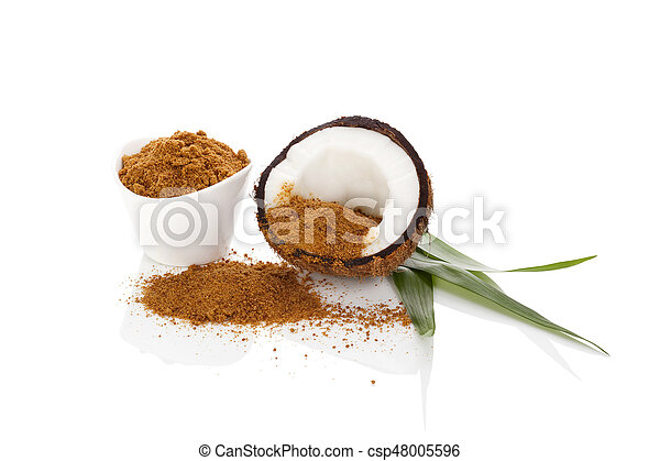 Coconut sugar background. - csp48005596
