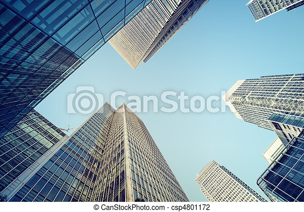Canary Wharf, financial district in London.  - csp4801172