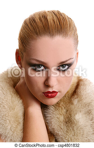 a beautiful woman in diva image - csp4801832