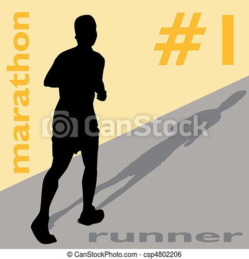 Marathon Runner Number One - csp4802206