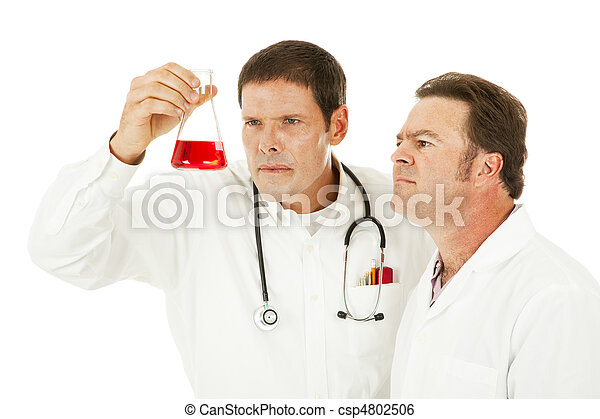 Doctor Examines Medical Specimen  - csp4802506