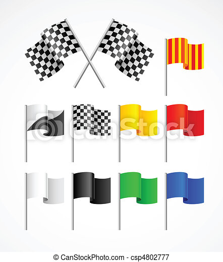 set of sport flags - csp4802777