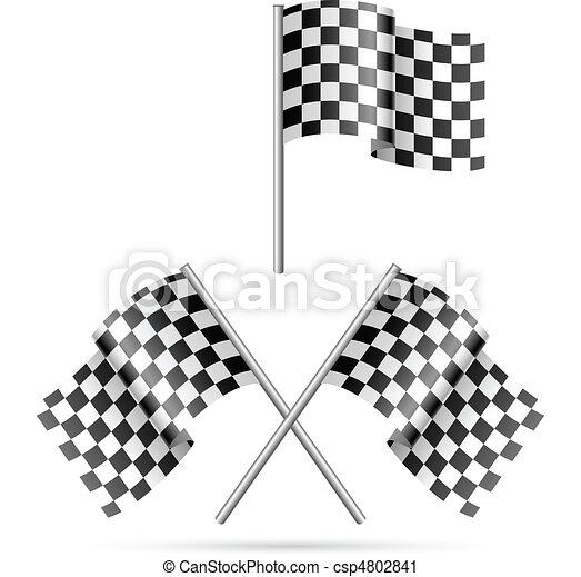 checkered flag - csp4802841
