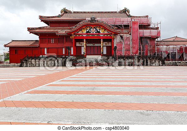 Shuri Castle in Okinawa Japan - csp4803040