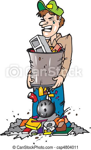 broken trash can - csp4804011
