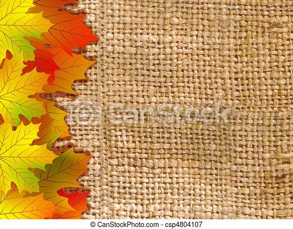 Thank You Card With A Leaves Background - csp4804107