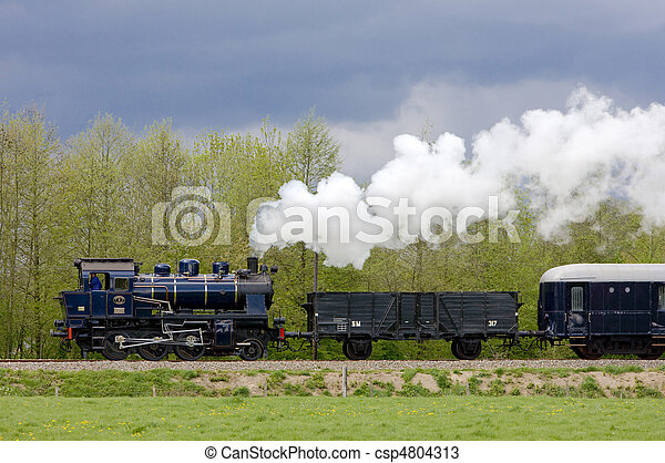 steam train, Netherlands - csp4804313