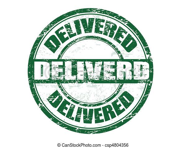 Delivered stamp - csp4804356